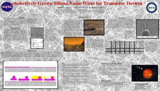 Selectively Grown Silicon Nano-Wires for Transistor Devices