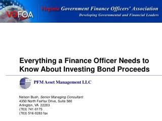 Everything a Finance Officer Needs to Know About Investing Bond Proceeds