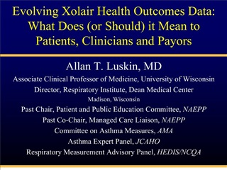Evolving Xolair Health Outcomes Data:  What Does or Should it Mean to Patients, Clinicians and Payors