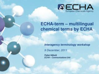 ECHA-term – multilingual chemical terms by ECHA