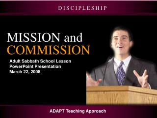 Adult Sabbath School Lesson PowerPoint Presentation March 22, 2008