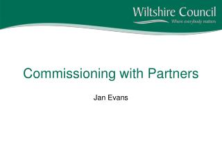 Commissioning with Partners