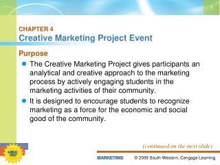 CHAPTER 4 Creative Marketing Project Event