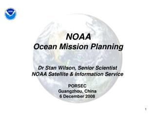 NOAA  Ocean Mission Planning