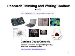 Research Thinking and Writing Toolbox DVA403