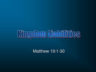 Matthew 19:1-30