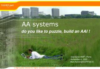 do you like to puzzle, build an AAI !