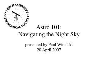 Astro 101: Navigating the Night Sky