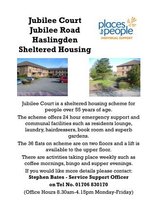 Jubilee Court Jubilee Road Haslingden Sheltered Housing