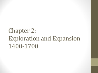 Exploration and Expansion