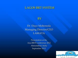 LAGOS BRT SYSTEM BY