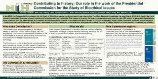 Contributing to history: Our role in the work of the Presidential Commission for the Study of Bioethical Issues