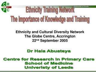 Ethnicity Training Network  The Importance of Knowledge and Training