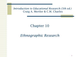 Chapter 10 Ethnographic Research
