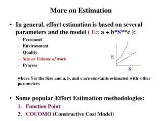 More on Estimation