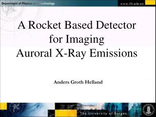 A Rocket Based Detector for Imaging  Auroral X-Ray Emissions
