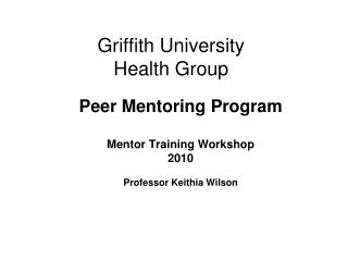Griffith University Health Group