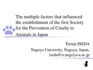 The multiple factors that influenced the establishment of the first Society for the Prevention of Cruelty to Animals in