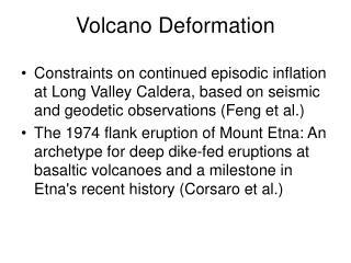 Volcano Deformation