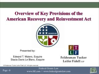 Overview of Key Provisions of the American Recovery and Reinvestment Act