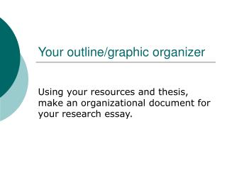 Your outline/graphic organizer