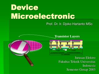 Device Microelectronic