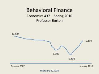 Behavioral Finance Economics 437 – Spring 2010 Professor Burton