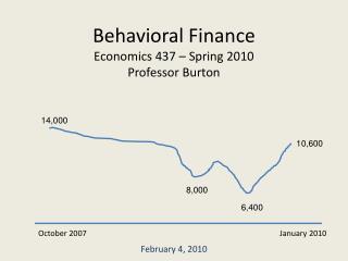 Behavioral Finance Economics 437 – Spring 2010 Professor Burton