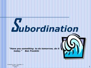 S ubordination