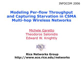 Modeling Per-flow Throughput and Capturing Starvation in CSMA Multi-hop Wireless Networks