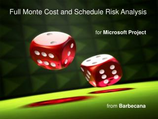 Full Monte Cost and Schedule Risk Analysis