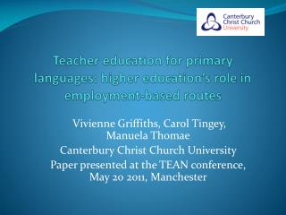 Teacher education for primary languages: higher education's role in employment-based routes