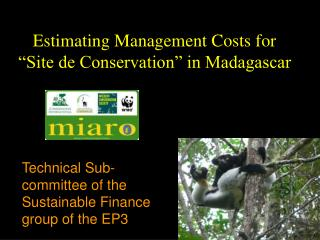 "Estimating Management Costs for ""Site de Conservation"" in Madagascar"