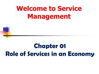 Welcome to Service Management