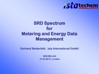 SRD Spectrum  for  Metering and Energy Data Management
