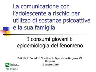 La comunicazione con l'adolescente a rischio per utilizzo di sostanze psicoattive e la sua famiglia