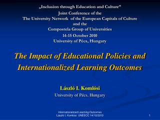 """Inclusion through Education and Culture"""