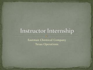 Instructor Internship