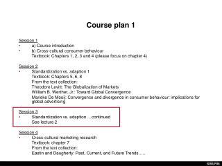Course plan 1