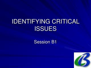 IDENTIFYING CRITICAL ISSUES