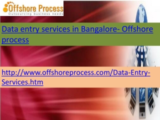 Data entry services in Bangalore-Offshore process