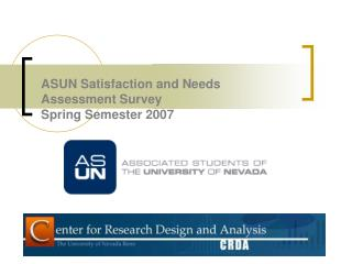 ASUN Satisfaction and Needs Assessment Survey Spring Semester 2007