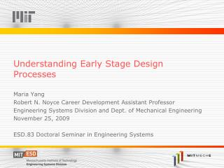 Understanding Early Stage Design Processes