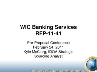 WIC Banking Services RFP-11-41