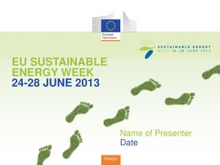 EU SUSTAINABLE ENERGY WEEK