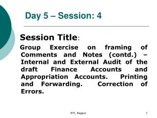 Day 5 – Session: 4