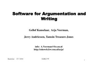 Software for Argumentation and Writing