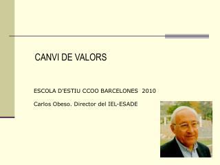 CANVI DE VALORS