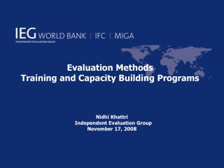 Evaluation Methods Training and Capacity Building Programs