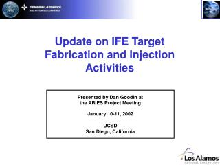 Update on IFE Target Fabrication and Injection Activities